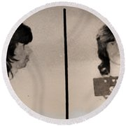 Keith Richards Mugshot - Keith Don't Go Round Beach Towel