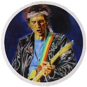 Keith Richards Of Rolling Stones Round Beach Towel
