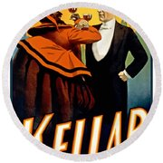 Kellar Toasts The Devil Round Beach Towel by Terry Reynoldson