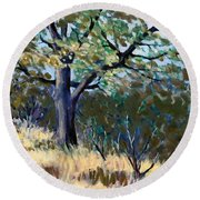 Kelly Ridge Trail Round Beach Towel