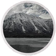 Kenai Lake Round Beach Towel