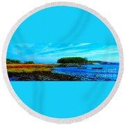 Kennebunkport  Vaughn Island  Round Beach Towel