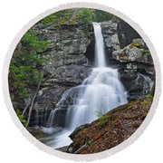 Kent Falls State Park Ct Waterfall Round Beach Towel