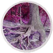 Kentucky Lake Roots  Round Beach Towel