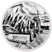 Kenworth Rig Round Beach Towel