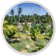 Kerala Landscape Round Beach Towel