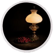 Kerosene Lamp Round Beach Towel
