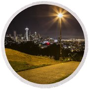 Kerry Park Seattle Round Beach Towel