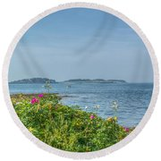 Round Beach Towel featuring the photograph Kettle Cove by Jane Luxton