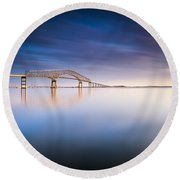 Key Bridge 2014 Round Beach Towel
