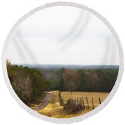 Key Hill Round Beach Towel