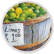 Key Limes Ten For A Dollar Round Beach Towel