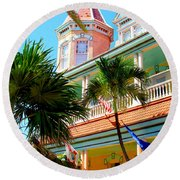 Key West Round Beach Towel