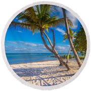 Key West Florida Round Beach Towel
