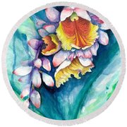 Key West Ginger Round Beach Towel
