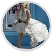 Key West Marilyn Round Beach Towel