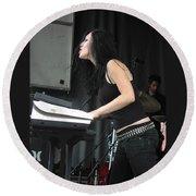 Keyboardist Marta Peterson Round Beach Towel