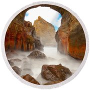 Keyhole Froth Round Beach Towel