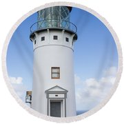 Kilauea Lighthouse Round Beach Towel by Suzanne Luft