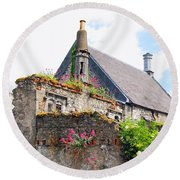Round Beach Towel featuring the photograph Kilkenny House by Mary Carol Story