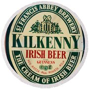 Kilkenny Irish Beer Round Beach Towel