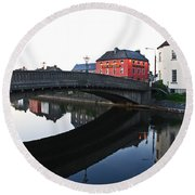 Round Beach Towel featuring the photograph Kilkenny by Mary Carol Story
