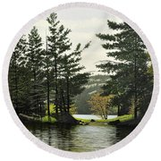 Round Beach Towel featuring the painting Killarney by Kenneth M Kirsch