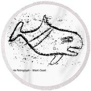Killer Whale Petroglyph Round Beach Towel