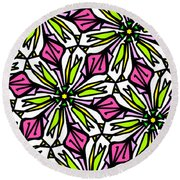 Round Beach Towel featuring the digital art Kind Of Cali-lily by Elizabeth McTaggart