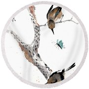 Kindred Hearts Round Beach Towel