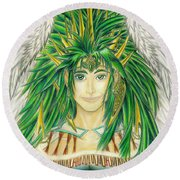 King Crai'riain Portrait Round Beach Towel