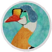 King Eider Round Beach Towel