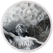 King James Lebron Round Beach Towel