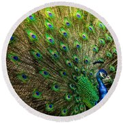 King Of Birds Round Beach Towel