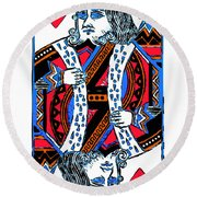 King Of Hearts 20140301 Round Beach Towel