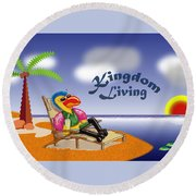 Kingdom Living Round Beach Towel
