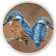 Kingfishers Round Beach Towel