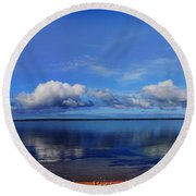 Kingscote View Round Beach Towel