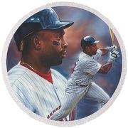 Kirby Puckett Minnesota Twins Round Beach Towel