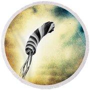 Kite In The Wind Round Beach Towel