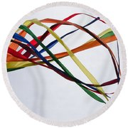 Round Beach Towel featuring the photograph Kite  by Susan  McMenamin