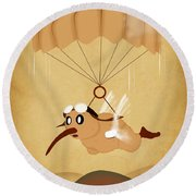 Kiwi  Round Beach Towel