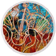 Klezmer Music Band Round Beach Towel