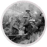 Klondike Gold Rush Miners  1897 Round Beach Towel
