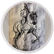 Knight Round Beach Towel