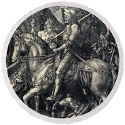 Knight Death And The Devil Round Beach Towel