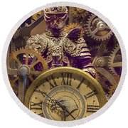 Knight Time - Chuck Staley Round Beach Towel