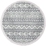 Knit Pattern Abstract Round Beach Towel