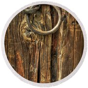 Knock On Wood Round Beach Towel