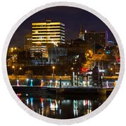 Knoxville Waterfront Round Beach Towel